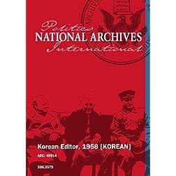 Korean Editor, 1958 [KOREAN]