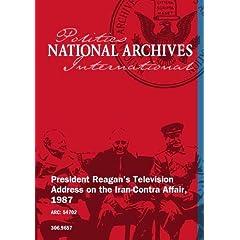 President Reagan's Television Address on the Iran-Contra Affair, 1987