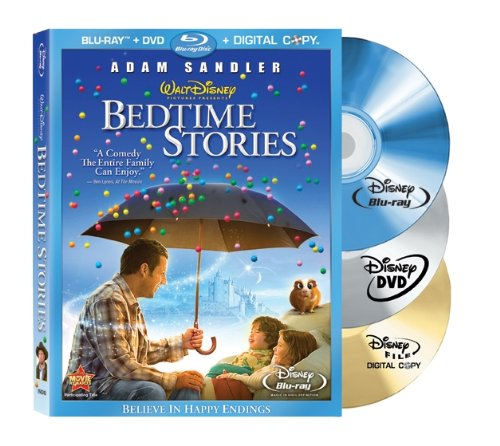 Bedtime Stories (Plus Standard DVD + Digital Copy + BD Live) [Blu-ray]