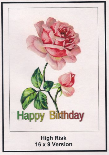 High Risk: 16x9 Widescreen TV.: Greeting Card: Happy Birthday