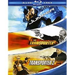 Action Blu-ray 3-Pack (Jumper / Transporter / Transporter 2) [Blu-ray]
