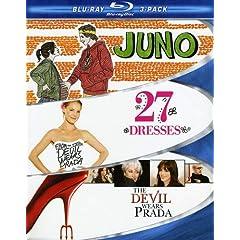 Chick Flick Blu-ray 3-Pack (Juno / 27 Dresses / The Devil Wears Prada) [Blu-ray]