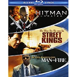 Hard Action Blu-ray 3-Pack (Hitman / Street Kings / Man on Fire) [Blu-ray]