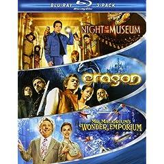 Kid Blu-ray 3-Pack (Night at the Museum / Eragon / Mr. Magorium's Wonder Emporium) [Blu-ray]