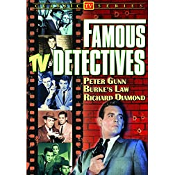 Famous TV Detectives (Peter Gunn / Burke's Law / Richard Diamond)