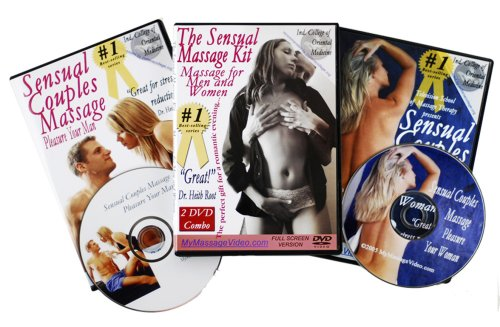 The Total Romance Kit: Sensual Couples Massage, Pleasure Your Woman DVD & Pleasure Your Man DVD plus Relaxation Sounds on CD (2 DVD/1 CD combo pack)