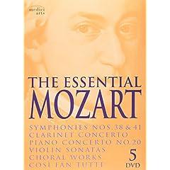 The Essential Mozart: Symphonies Nos. 38 & 41; Clarinet Concerto; Piano Concerto, No. 20; Violin Sonatas; Choral Works; Cosi Fan Tutte