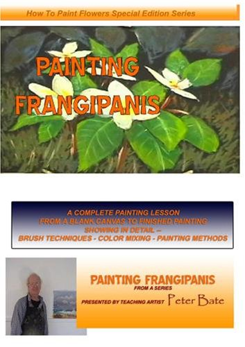 How to Paint Flowers in Oils- Painting Frangipanis