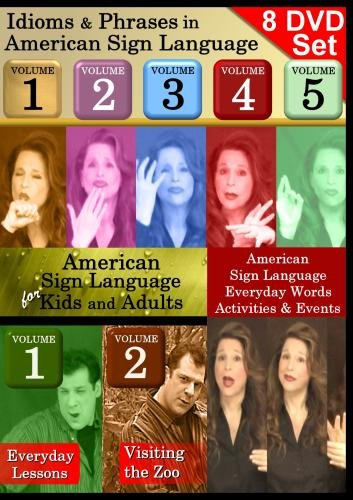 American Sign Language 8-DVD Collection: Idioms, Kids and Holidays! (7+ hours of video)