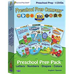 Preschool Prep Pack - 4 DVDs (Meet the Letters, Meet the Numbers, Meet the Shapes, Meet the Colors)