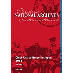 Chief Justice Burger in Japan, 1983