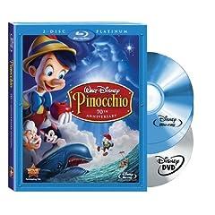 Pinocchio (Two-Disc 70th Anniversary Platinum Edition + Standard DVD) [Blu-ray]