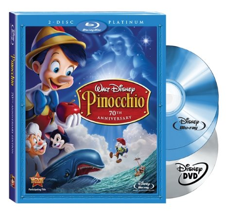 Pinocchio (Two-Disc 70th Anniversary Platinum Edition + Standard DVD) [Blu-ray]