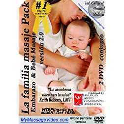 La familia Masaje Pack: Embarazo & Baby Masaje 2 DVD conjunto version 2.0