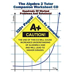 Algebra 2 Tutor Companion Worksheet CD