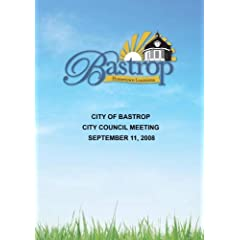 City of Bastrop City Council Meeting September 11, 2008