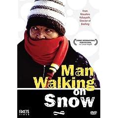 Man Walking on Snow