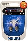 Philips BlueVision ultra Xenon-Effekt T4W Scheinwerferlampe 12929BVB2, Doppelblister