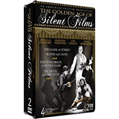 The Golden Age of Silent Films - 2 DVD COLLECTOR'S EMBOSSED TIN!