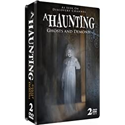 A Haunting: Ghosts and Demons - 2 DVD COLLECTOR'S EMBOSSED TIN! AS SEEN ON DISCOVERY CHANNEL!