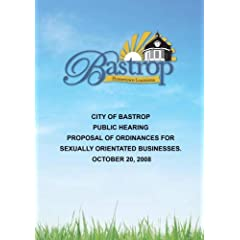 City of Bastrop Public Hearing October 20, 2008