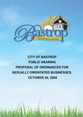 City of Bastrop Public Hearing October 20, 2008