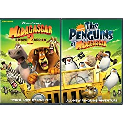 Madagascar - Escape 2 Africa/Nick Penguins 2-Disc Move It, Move It, Double DVD Pack (Widescreen)