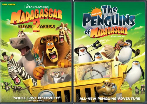 Madagascar: Escape 2 Africa/Nick Penguins 2 Disc Move It, Move It, Double DVD Pack  (Full Screen)