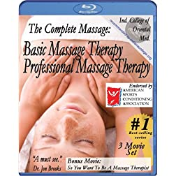 Complete Massage Pack plus Workbook and music CD: Basic & Professional Massage Therapy plus free bonus movie So, You Want To Be A Massage Therapist (3 movie / 1 Manual / 1 CD) [Blu-ray]
