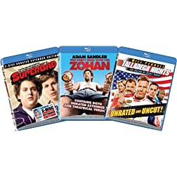 Blu-ray Comedy Bundle (Superbad, You Don't Mess with the Zohan, Talladega Nights) [Blu-ray]