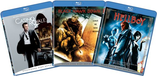 Blu-ray Action 3-pk Bundle (Casino Royale, Black Hawk Down, Hellboy) [Blu-ray]