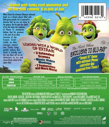 Planet 51 (Disc Blu-ray/DVD Combo) [Blu-ray]