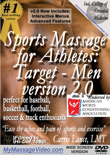 Sports Massage for Athletes:  Target - Men version 2.0perfect for Baseball, Basketball, Football, Soccer & Track Enthusiasts