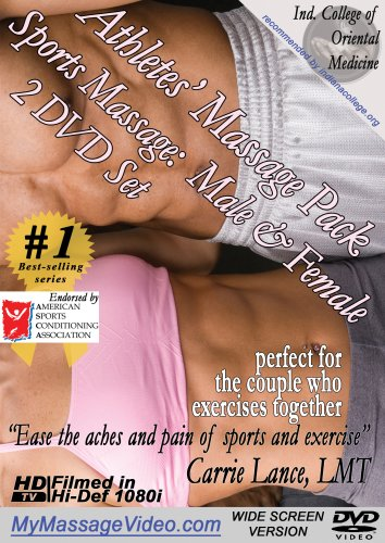 The Athlete's Massage Pack:  Sports Massage for Men & Women 2 DVD set version 2.0