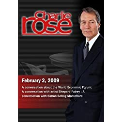 Charlie Rose -  Martin Wolf / Shepard Fairey / Simon Sebag Montefiore (February 2, 2009)