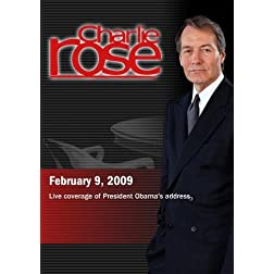 Charlie Rose -Live coverage of President Obama's address (February 9, 2009)