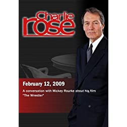 Charlie Rose -  Mickey Rourke  (February 12, 2009)