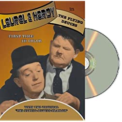 Laurel & Hardy Flying Deuces - colorized