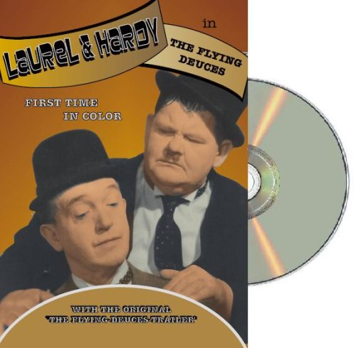 Laurel & Hardy Flying Deuces - colorized