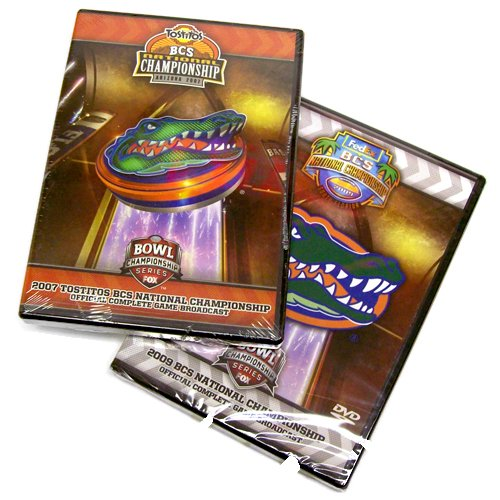 Florida Gators 2007 & 2009 Football National Championship 2 Pack (Full Games)