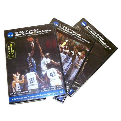 North Carolina Tar Heels 1982, 1993 & 2005 Basketball National Championship 3 Pack (Full Games)