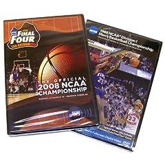 Kansas Jayhawks 1988 & 2008 Basketball National Championship 2 Pack (Full Games)