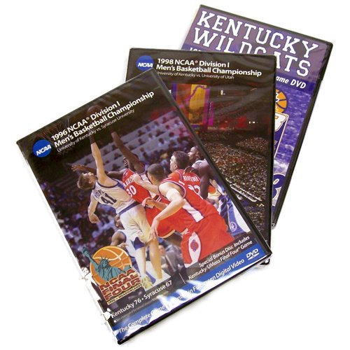 Kentucky Wildcats 1978, 1996 & 1998 Basketball National Championship 3-Pack (Full Games)