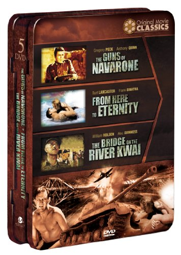 World War II Films: Guns of Navarone/From Here to Eternity/The Bridgeon the River Kwai