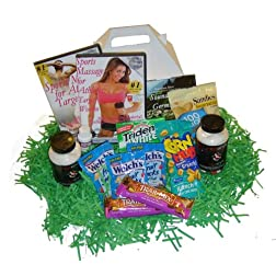 Sports Entusiast Gift Box: Perfect for Athletes Sports Massage DVD, Oil, CD, Health Supplements and Healthy Treats