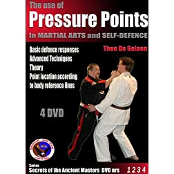 The use of pressure points in martial arts 4 DVD