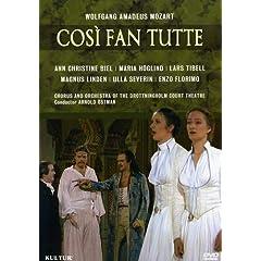 Mozart - Cosi fan Tutte / Biel, Hoglind, Tibell, Florimo, Linden, Severin, Ostman, Drottningholm Opera