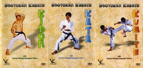 Shotokan Karate Knazawa 3 DVD Box set Kihon Kumite & Kata