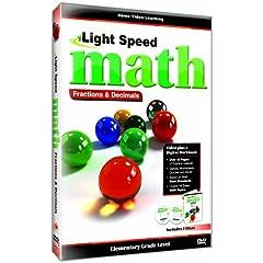 Light Speed Math: Fractions & Decimals