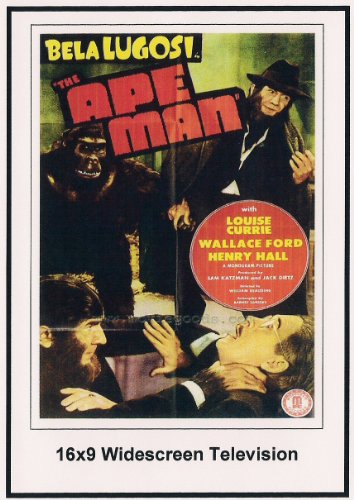 The Ape Man 16x9 Widescreen TV.